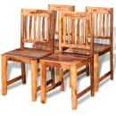 vidaXL Valgomojo kėdės, 4 vnt., masyvi rausvosios dalbergijos mediena