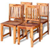 vidaXL Dining Chairs 4 pcs Solid Sheesham Wood