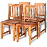 vidaXL Cadeiras de jantar 4 pcs madeira sheesham sólida