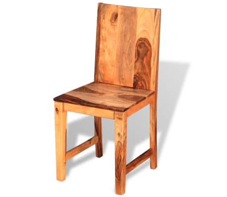 vidaXL Dining Chairs 4 pcs Solid Sheesham Wood[2/9]