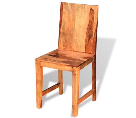 vidaXL Dining Chairs 4 pcs Solid Sheesham Wood[3/9]