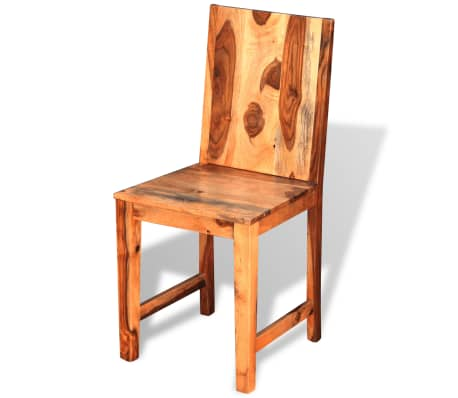 vidaXL Dining Chairs 4 pcs Solid Sheesham Wood[4/9]