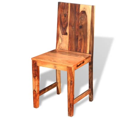 vidaXL Dining Chairs 4 pcs Solid Sheesham Wood[5/9]