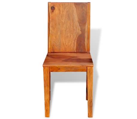 vidaXL Dining Chairs 4 pcs Solid Sheesham Wood[7/9]