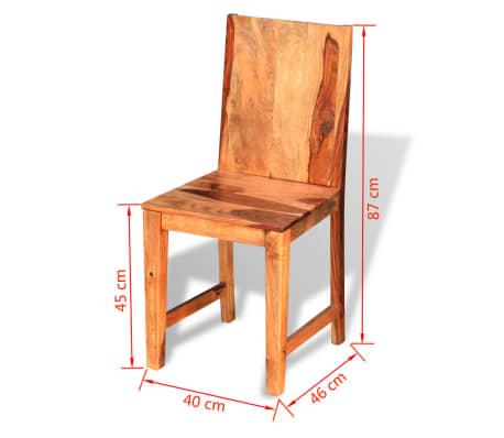 vidaXL Chaise de salle à manger 4 pcs Bois massif de sesham[9/9]
