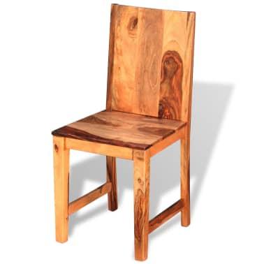 vidaXL Chaise de salle à manger 4 pcs Bois massif de sesham[2/9]