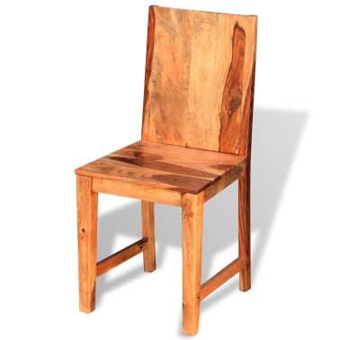 vidaXL Chaise de salle à manger 4 pcs Bois massif de sesham[3/9]