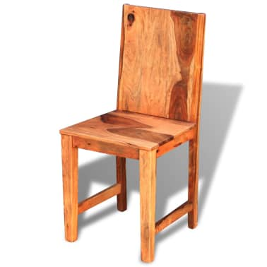 vidaXL Dining Chairs 4 pcs Solid Sheesham Wood[6/9]