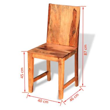 vidaXL Dining Chairs 4 pcs Solid Sheesham Wood[9/9]