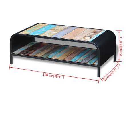 vidaXL Coffee Table Solid Reclaimed Wood[11/11]