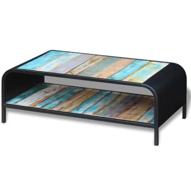vidaXL Coffee Table Solid Reclaimed Wood[3/11]