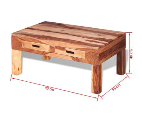 VidaXL Table Basse Bois Massif De Sesham[10/10]
