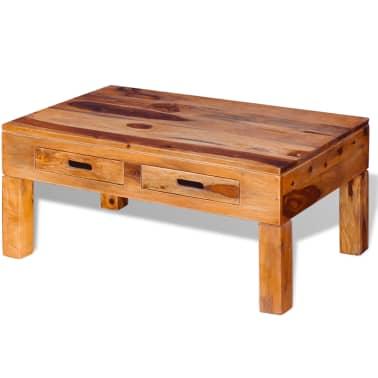 vidaXL Coffee Table Solid Sheesham Wood[3/10]