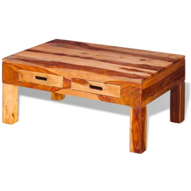 vidaXL Coffee Table Solid Sheesham Wood[4/10]