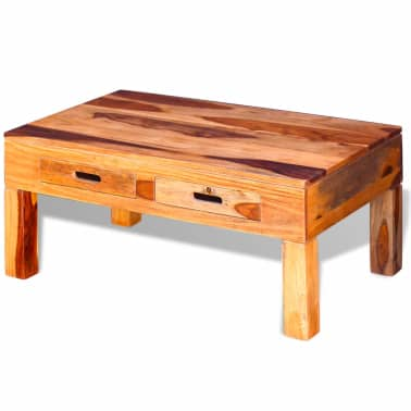 vidaXL Coffee Table Solid Sheesham Wood[5/10]