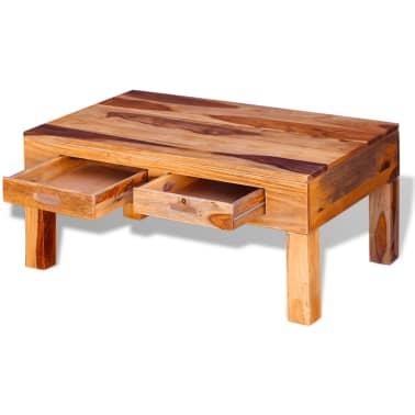 vidaXL Coffee Table Solid Sheesham Wood[7/10]