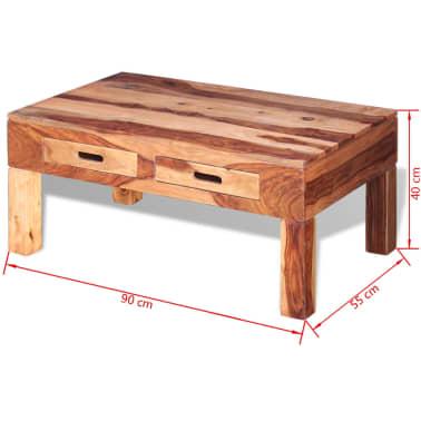 vidaXL Coffee Table Solid Sheesham Wood[10/10]