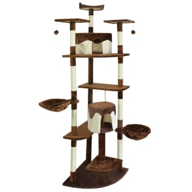 vidaXL Cat Scratching Post 213 cm Brown and White[1/3]