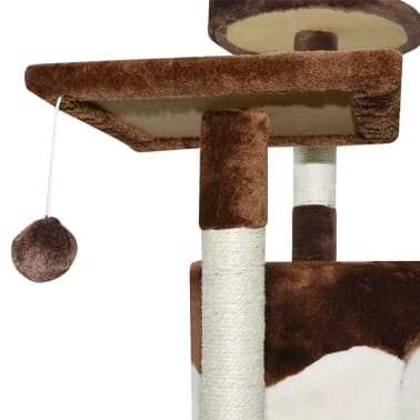 vidaXL Cat Scratching Post 213 cm Brown and White[3/3]