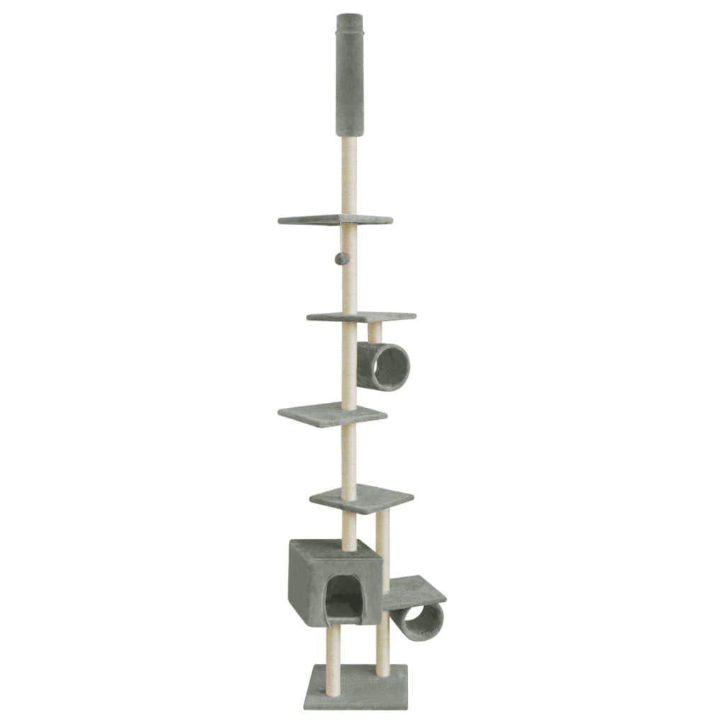 vidaXL Ansamblu pentru pisici, 260 cm, gri poza 2021 vidaXL