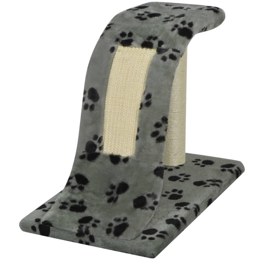 vidaXL Ansamblu pentru pisici, cu urme de lăbuțe, 30 cm, gri poza vidaxl.ro