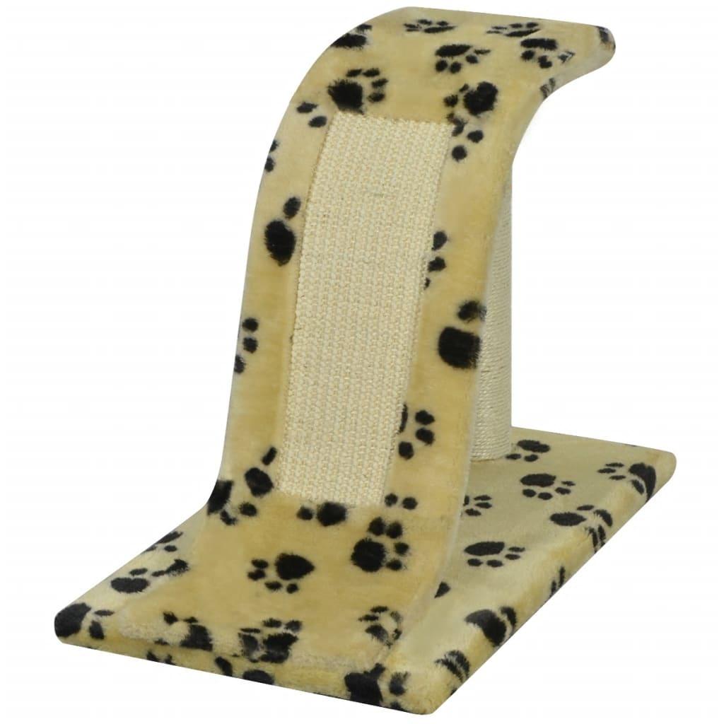 vidaXL Škrabadlo pro kočky 30 cm žluté potisk tlapek