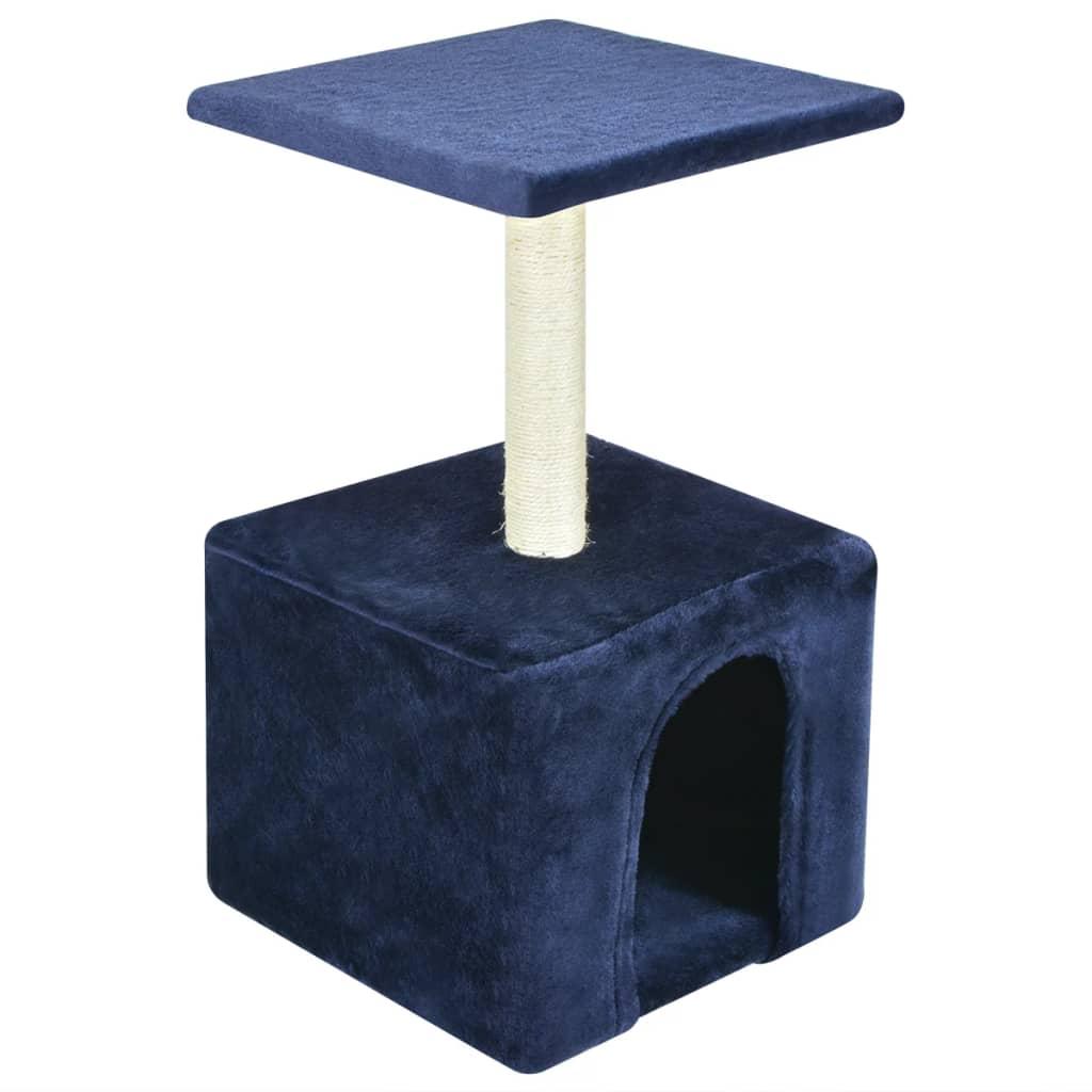 vidaXL Ansamblu pentru pisici, 55 cm, albastru închis poza 2021 vidaXL