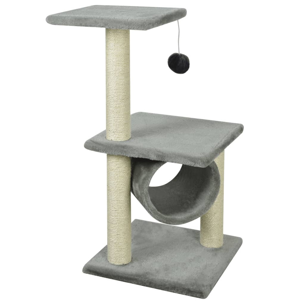 vidaXL Škrabadlo pro kočky 65 cm šedé