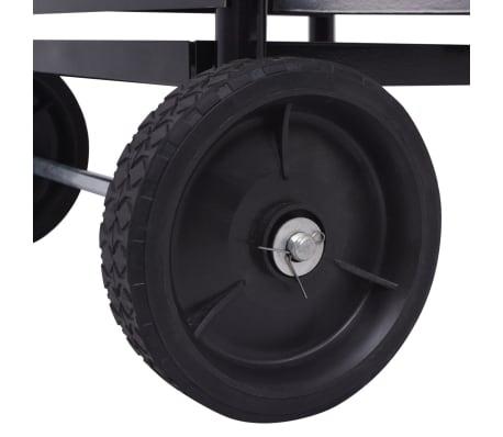 vidaXL Chariot à bois en fer 35 x 30 x 81 cm[4/4]
