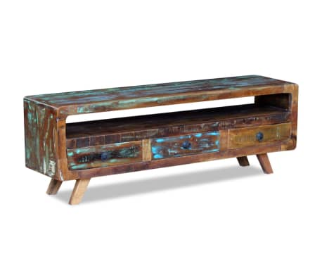 Vidaxl Tv Cabinet With 3 Drawers Solid