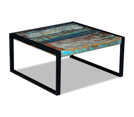 vidaXL Kavos staliukas, masyvi perdirbta mediena, 80x80x40 cm[5/8]