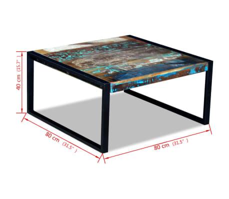 vidaxl table basse 80 x 80 x 40 cm en bois de r cup ration massif. Black Bedroom Furniture Sets. Home Design Ideas