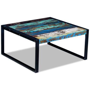 vidaXL Kavos staliukas, masyvi perdirbta mediena, 80x80x40 cm[2/8]