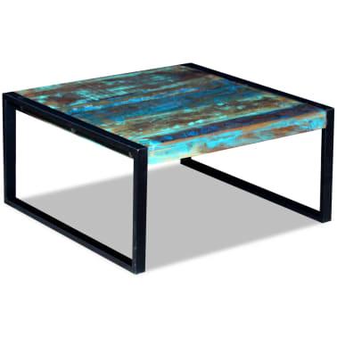 vidaXL Kavos staliukas, masyvi perdirbta mediena, 80x80x40 cm[3/8]
