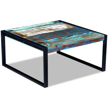 vidaXL Kavos staliukas, masyvi perdirbta mediena, 80x80x40 cm[4/8]