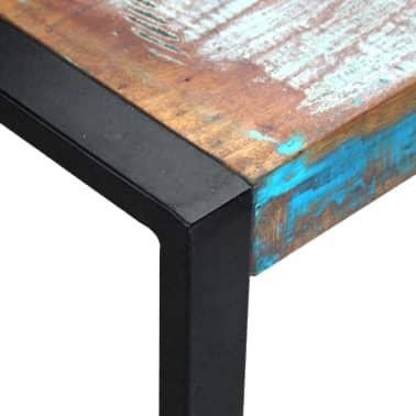 vidaXL Kavos staliukas, masyvi perdirbta mediena, 80x80x40 cm[7/8]