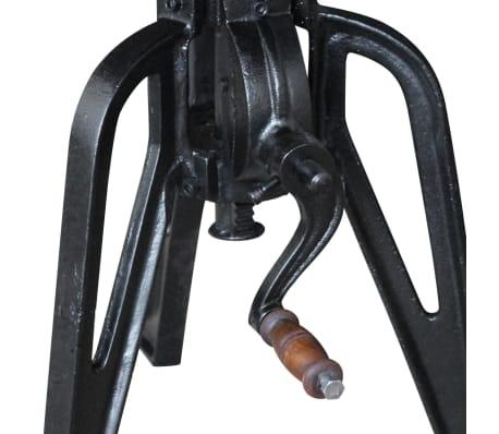 vidaXL Staliukas, masyvi perdirbta mediena ir ketus, 60x(42-63) cm[9/10]