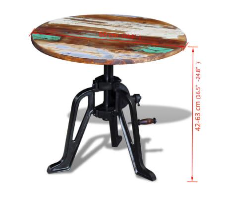 vidaXL Staliukas, masyvi perdirbta mediena ir ketus, 60x(42-63) cm[10/10]