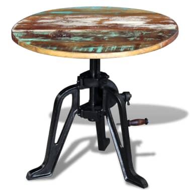 vidaXL Staliukas, masyvi perdirbta mediena ir ketus, 60x(42-63) cm[4/10]