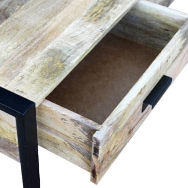 "vidaXL Coffee Table with 2 Drawers Solid Mango Wood 39.4x23.6""x15.7""[7/8]"