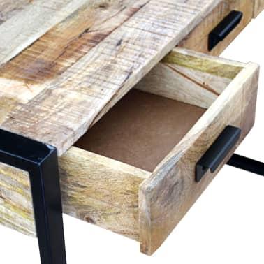 vidaXL Konsolinis staliukas su 3 stalčiais, masyvi mango mediena[7/8]