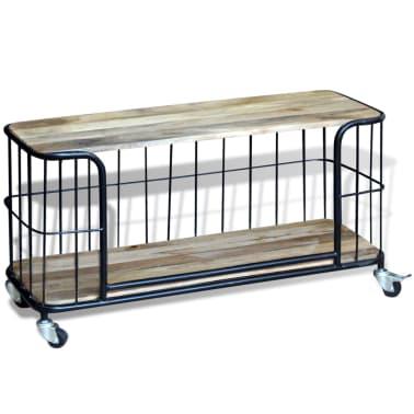 "vidaXL TV Cabinet Solid Mango Wood 39.4""x15.7""x17.7""[1/10]"