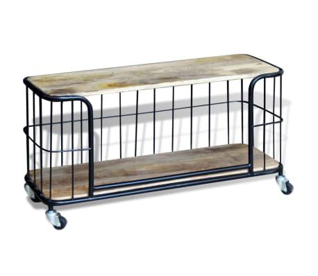 "vidaXL TV Cabinet Solid Mango Wood 39.4""x15.7""x17.7""[3/10]"