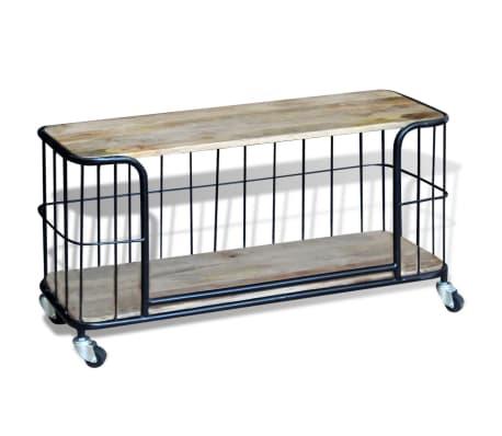 "vidaXL TV Cabinet Solid Mango Wood 39.4""x15.7""x17.7""[4/10]"