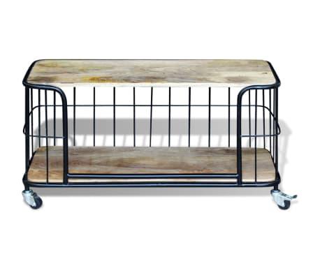 vidaxl meuble tv 100 x 40 x 45 cm bois de manguier massif6