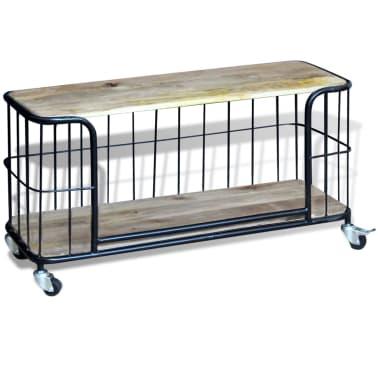 "vidaXL TV Cabinet Solid Mango Wood 39.4""x15.7""x17.7""[5/10]"