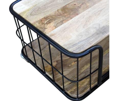 vidaXL Măsuță de cafea din lemn solid de mango 100x50x35 cm[7/10]
