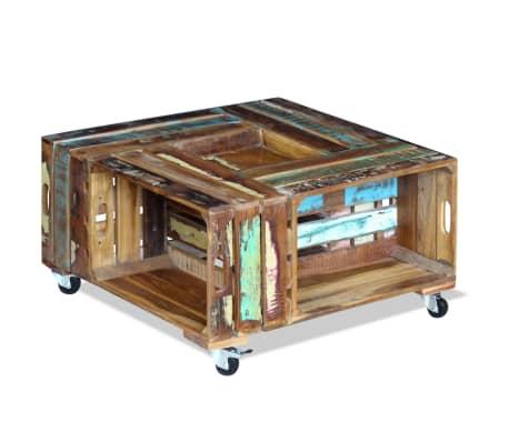 vidaXL Konferenčný stolík z recyklovaného dreva, 70x70x35 cm