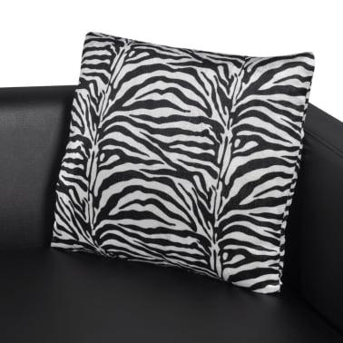 vidaXL Cube Armchair Artificial Leather Black[5/5]