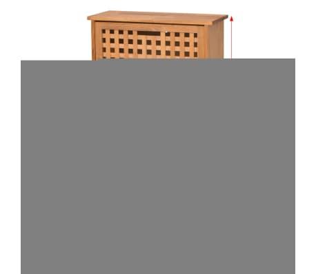 Vidaxl schuhschrank walnuss massivholz 55 x 20 x 104 cm for Schuhschrank massivholz
